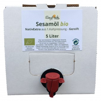 Bio Sesamöl NativExtra, 1. Kaltpressung - gereift, 5 l