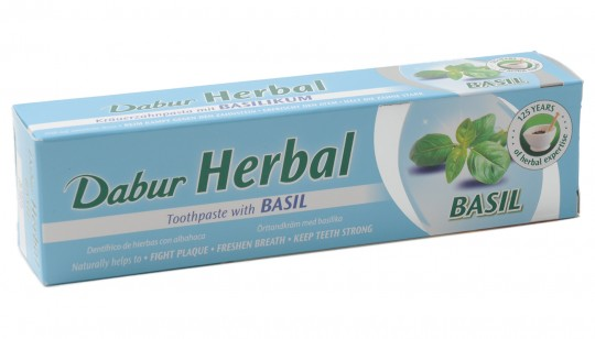 Ayurvedische Kräuterzahnpasta mit Basilikum, 100 ml