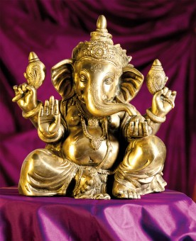 Ganesha-Statue aus Messing, 35cm