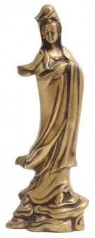 Kuan Yin-Statue aus Messing, 22 cm