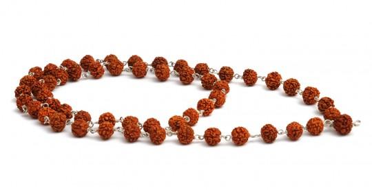 Mala-Kette aus 54 Rudraksha-Perlen