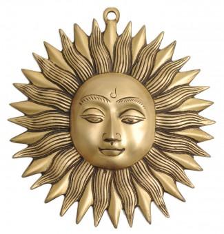 "Wandsymbol ""Sonne"", Messing"