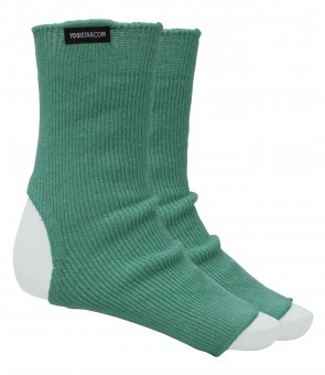 Yoga-Socken emerald green - Wolle