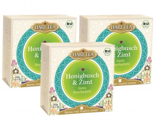 3x Bio Honigbusch & Zimt Teemischung, 60 g