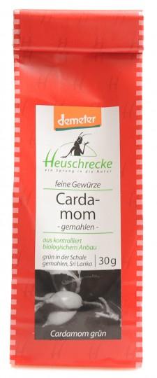 Bio demeter Cardamom, grün, gemahlen, 30 g