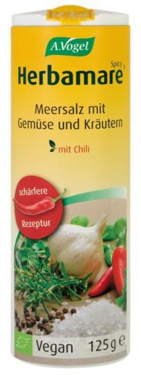 Bio Herbamare Spicy Kräutersalz (mit Chili), 125 g