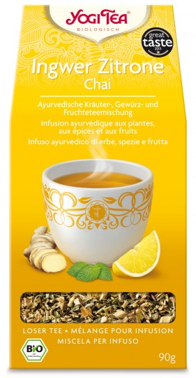 Bio Ingwer Zitrone Chai lose Teemischung, 90 g