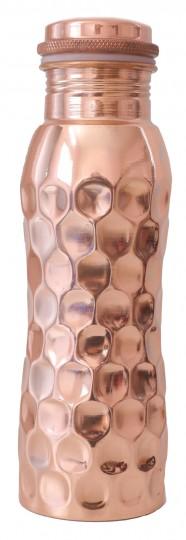 Kupferwasserflasche Diamant-Look, 0,6 l