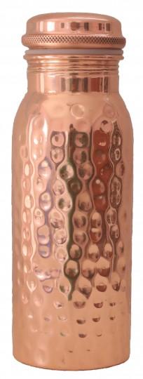 Kupferwasserflasche gehämmert, 0,6 l