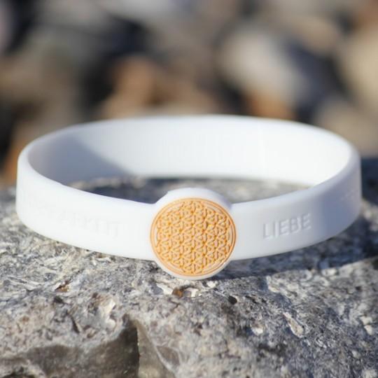 """Mindlet-Armband """"Blume des Lebens"""", weiß"""