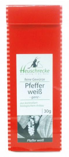 Bio Weißer Pfeffer (ganz), 30 g