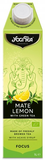 "Bio Teekaltgetränk ""ENERGIE"", Mate Zitrone mit grünem Tee, 1 l"