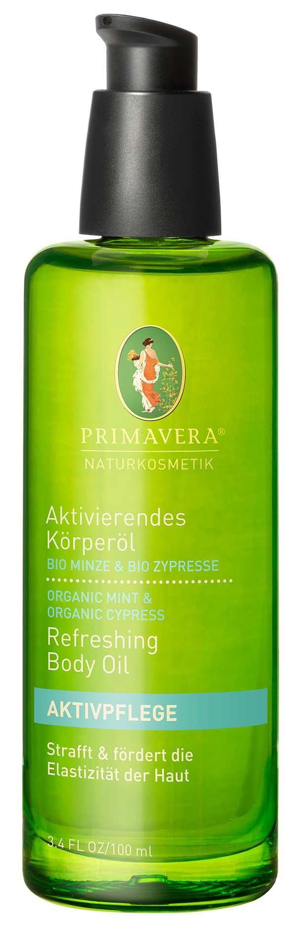 Aktivierendes Körperöl Minze Zypresse, 100 ml
