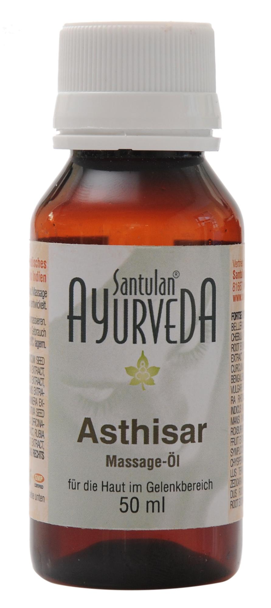 Asthisar Massage-Öl (Shanti-Öl), für die Haut im Gelenkbereich, 50 ml