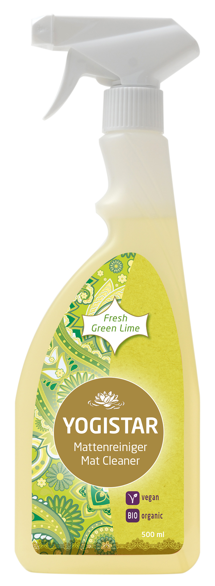 Bio Yogamatten-Reiniger - fresh green lime - 500 ml