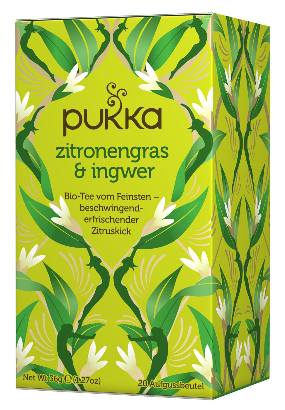 Bio Zitronengras & Ingwer Teemischung, 36 g